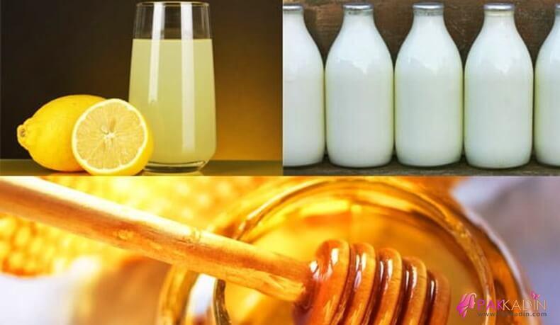 Cilt Rengini Açmak İçin Süt, Bal, Limon Suyu Maskesi