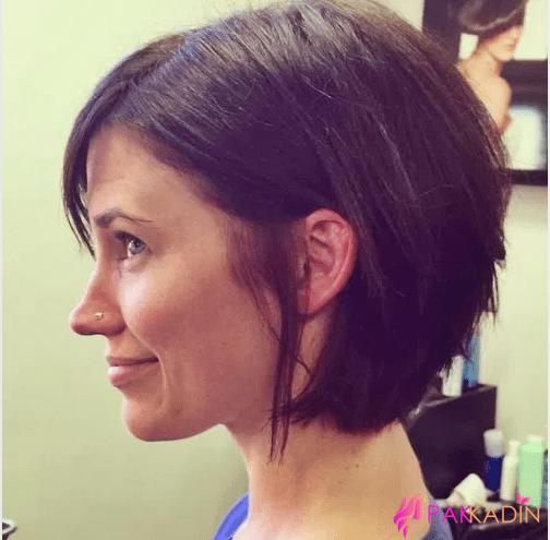Açılı Kesim Saç Modeli