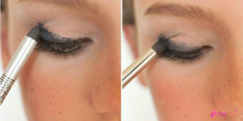 Dumanlı Göz Makyajı Kahverengi