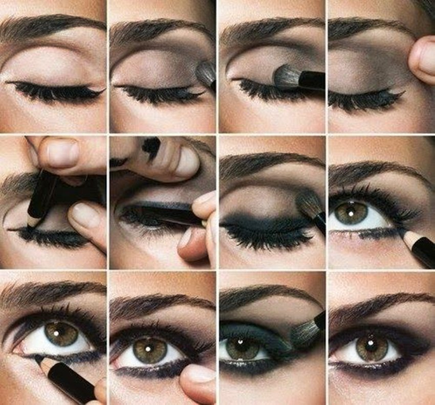 Resimli Dumanlı Göz Makyajı